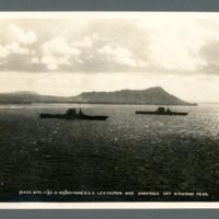 U.S.S. Lexington and Saratoga off Diamond Head
