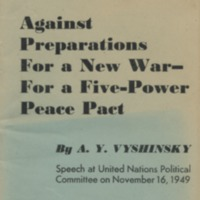 Against preparations for a new war - for a five-power…