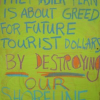 The master plan is about greed for future tourist…
