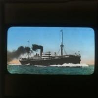 Passenger ship (Kasatomaru?): [客船(笠戸丸?)]