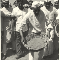 Prime Minister Nehru helps in road construction