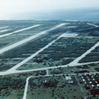 B-29 air strips on Tinian. Mar. 1951