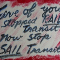 Five of you stopped rail transit... now stop sail…
