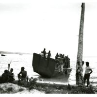 Some 34th CBs shown on LCVP landing at Solomon Islands