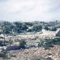 Bombed village in south end of an island