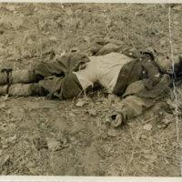 A soldier killed in battle in Okinawa
