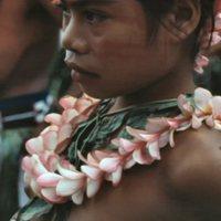 Young Woman at Satawal Elementary School graduation - 1