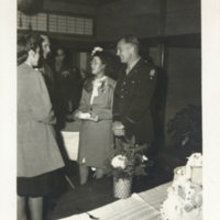 Capt. & Mrs. Griffith at the wedding, MP Club, Tokyo…