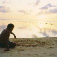 Mau Piailug on Beach - 02