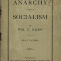 Anarchy versus socialism.