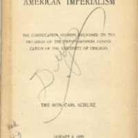 American Imperialism: convocation address delivered on…