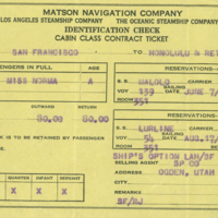[129] Matson Navigation Company Ticket