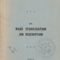 Shop stewards pocket manual on wage stabilization job…