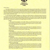 Protect Kaho'olawe Fund