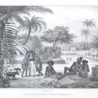 Village de la baie de la Madre de Dios. (Iles…