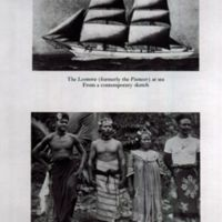 Leonara (formerly The Pioneer) at sea; Natives of the…