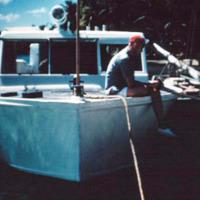 Capt. Anderson's P.T. boat. Capt. Bob Law, CivAd Truk.…