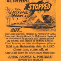 We, the people, stopped this Makapuu madness!