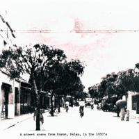 Street scene from Koror, Palau, in the 1930's.