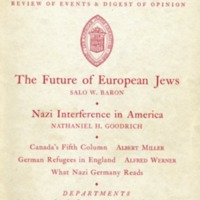 Contemporary Jewish record (8 v., 1938-1945)