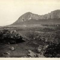 Camp Baird at Hanganui bay showing canibal cave in…