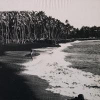 Black sand surfer