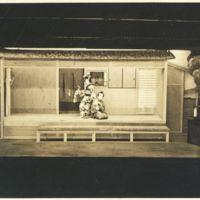 Kaizawa box 13-005: Two kabuki actors on stage playing…