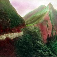 Nuuanu Pali - colorized image