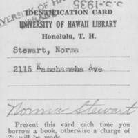 [075] University of Hawaii Library ID Card