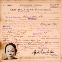 Chinese Certificates of Residence in Hawaii, 1901.