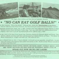 No can eat golf balls!