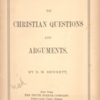 Answers to Christian Questions and Arguments