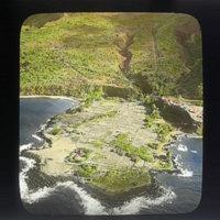 Aerial view of Laupahoehoe, Hawaii