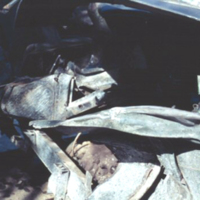 Wrecked jeep. Saipan. Feb. 1951