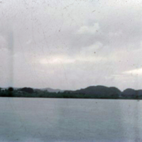 Babelthuap Is. from ramp. Koror, [Palau]. 21 Dec. 1949