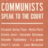 13 Communists speak to the court.