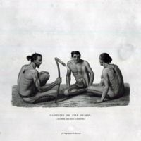 Habitants de L' ile Oualan (Archipel des Iles…