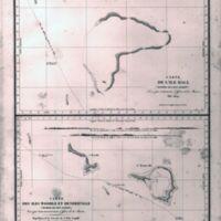 Carte de L'Ile Hall; Carte des Iles Woodle et…
