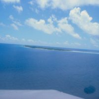 Distant Arial View of Ulithi Atoll