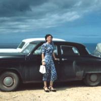 Jan West's Studebaker. Builder's Club. Guam. Jan. 1950