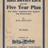 Anti-Soviet Lies and the Five Year Plan: The Holy…