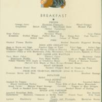 [015] S.S. Malolo Breakfast Menu