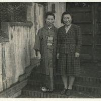 Kaizawa 2-027: Two Japanese women, one in kimono and…