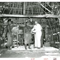 Dr. O'Brien treating natives at Ong Tong, Java
