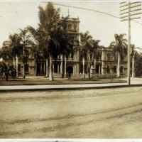 Panoramic view of Aliiolani Hale Building with…