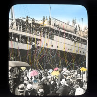 Steamer Day, with ship docked in Honolulu