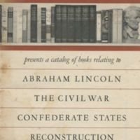 Abraham Lincoln Book Shop presents a catalog of books…