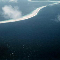 View of reef. Marshall Islands. June 1950