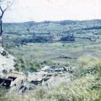 Battle terrain with battered tanks