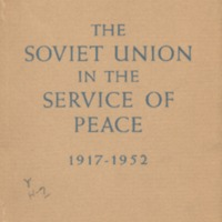 1917-1952: thirty-five years of the Soviet State ; the…